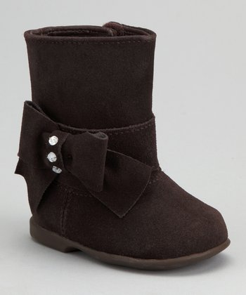 Brown Suede Bow Boot