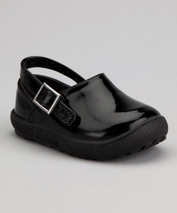 Black Patent Buckle Clog