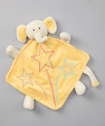 Baby Dry Goods Yellow Elephant Plush Toy Blanket