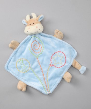 Baby Dry Goods Blue Cow Plush Toy Blanket