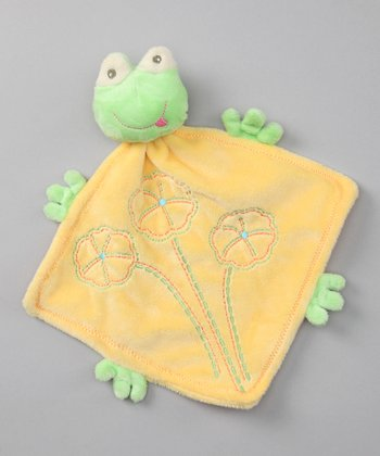 Baby Dry Goods Yellow Frog Plush Toy Blanket