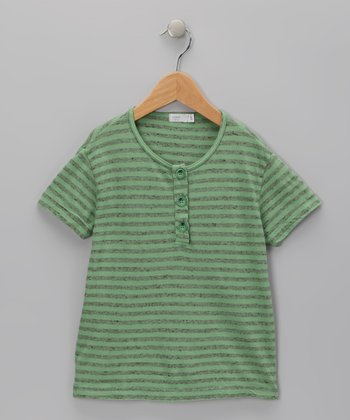 Baby Eggi Jade Stripe Henley - Toddler & Boys