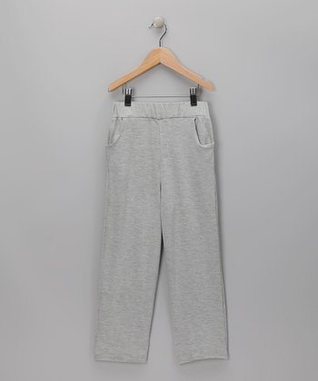 Baby Eggi Heather Gray Pants - Toddler & Boys