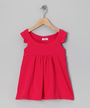Baby Eggi Bright Rose Babydoll Dress - Toddler & Girls