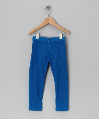 Baby Eggi Imperial Blue Pintuck Pants - Toddler & Girls
