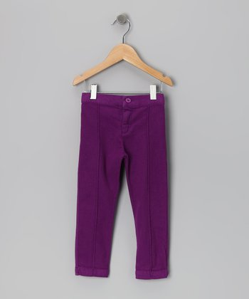 Baby Eggi Purple Magic Pintuck Pants - Toddler & Girls