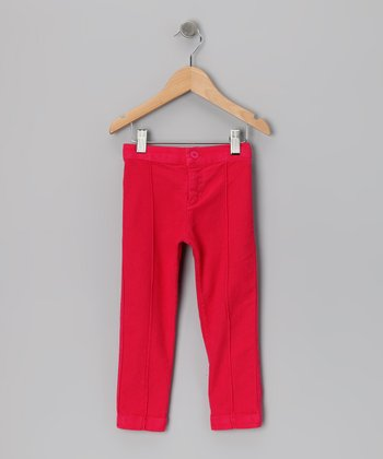 Baby Eggi Bright Rose Pintuck Pants - Toddler & Girls