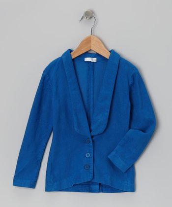 Baby Eggi Imperial Blue Tuxedo Jacket - Toddler & Girls