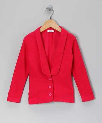 Baby Eggi Bright Rose Tuxedo Jacket - Toddler & Girls