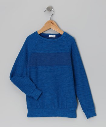Baby Eggi Imperial Blue Stripe Sweatshirt - Toddler & Boys