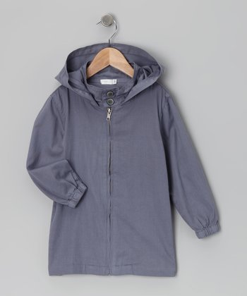 Baby Eggi Folkstone Gray Hooded Jacket - Toddler & Girls