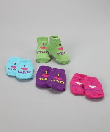 Baby Essentials 'I Love Mom & Dad' Sock Set