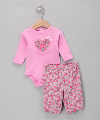 Pink Heart Bodysuit & Pants
