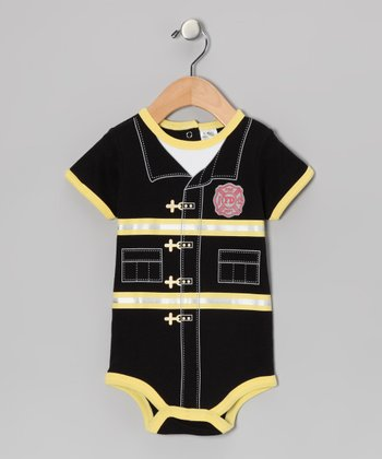 Black & Yellow Fireman Bodysuit