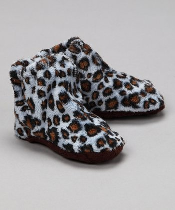 Baby Flirt Blue Leopard Hi-Top Booties