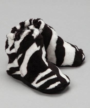 Baby Flirt Black Zebra Hi-Top Booties