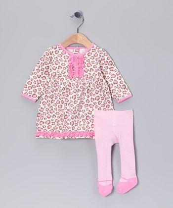 Pink Leopard Dress & Tights - Infant