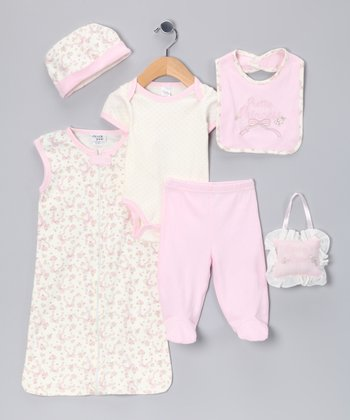 Pink 'Pretty Princess' Seven-Piece Layette Set - Infant