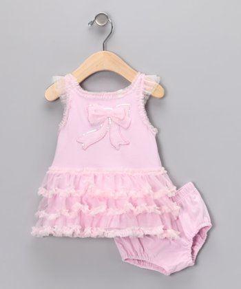 Pink Ruffle Dress & Diaper Cover