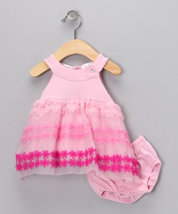 Pink & Fuchsia Dress & Diaper Cover