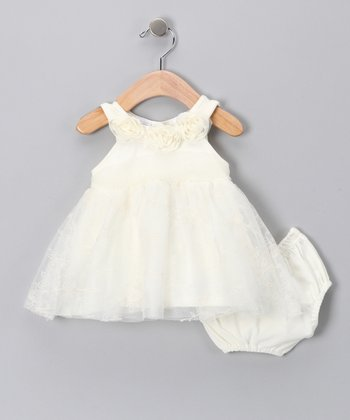 Beige Dress & Diaper Cover