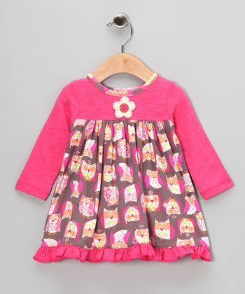 Pink Owl Dress - Infant