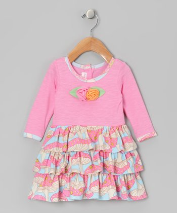 Pink Mushroom Ava Dress - Infant