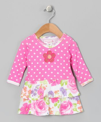 Pink Rose Anna Dress - Infant