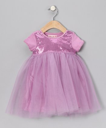 Mauve Sequin Dress - Infant & Toddler