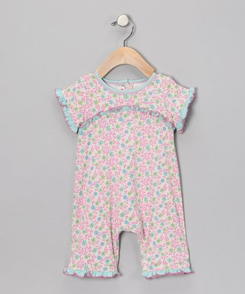 Blue Ruffle Romper - Infant