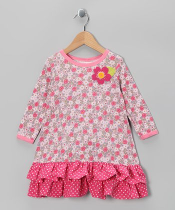 Pink Rose Cora Donna Dress - Toddler & Girls