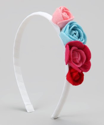 White & Red Garden Delight Headband