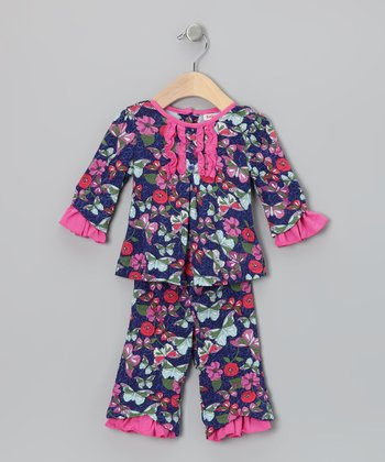 Blue Butterfly Garden Serena Top & Pants - Infant & Toddler