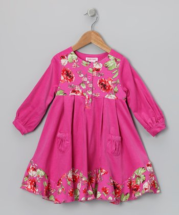 Fuchsia & Lime Bridget Dress - Toddler & Girls