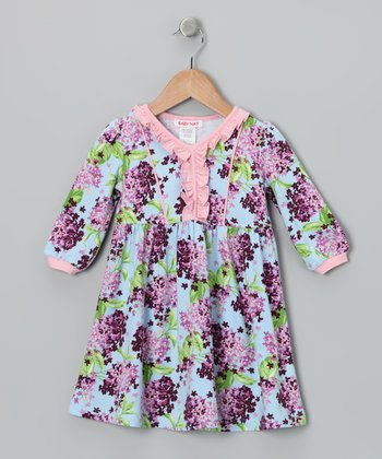 Blue & Pink Kristy Dress - Girls