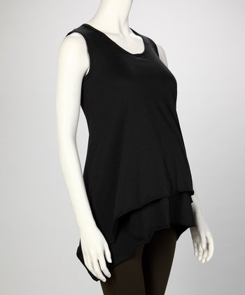 Black Stella Maternity & Nursing Tank