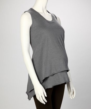 Sporty Gray Stella Maternity & Nursing Tank