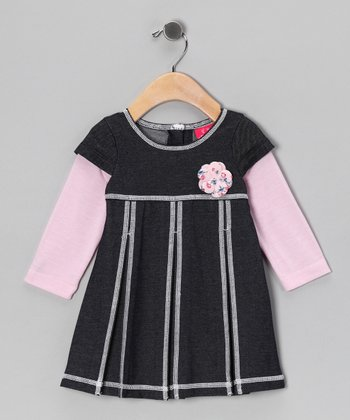 Light Pink Layered Dress - Infant