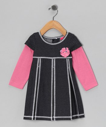 Bubble Gum Pink Layered Dress - Infant