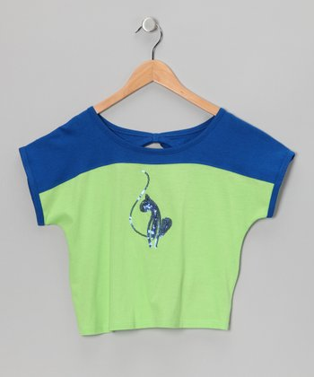 Surf Royal Sparkle Bow Top - Toddler & Girls