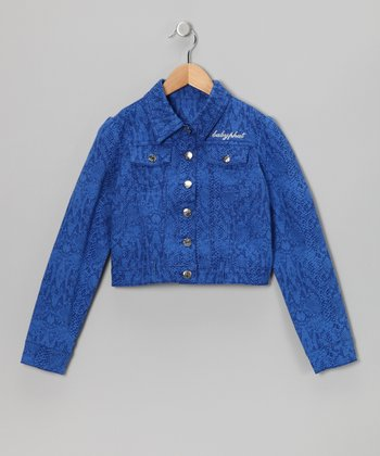 Surf Royal Snakeskin Jacket - Toddler & Girls