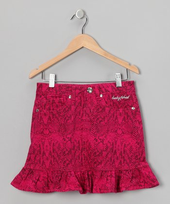 Fuchsia Snakeskin Skirt - Toddler & Girls