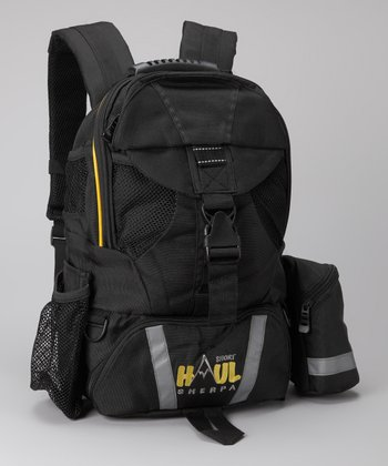 Black Short Haul Diaper Backpack