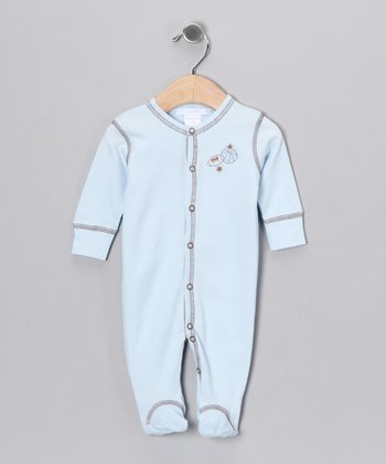 Light Blue Sport Footie - Infant