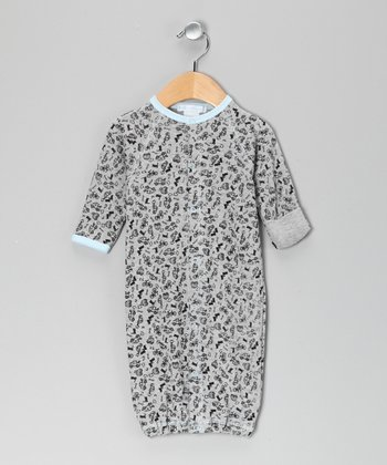 New York-Designed Gray Car Gown - Infant