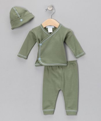 Sage & Blue Wrap Top Set - Infant