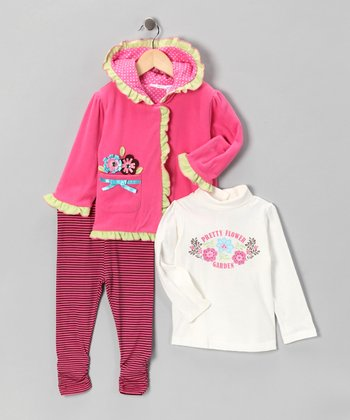 Rose Polar Fleece Jacket Set - Infant