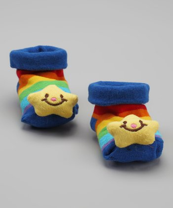 Rainbow Star Socks