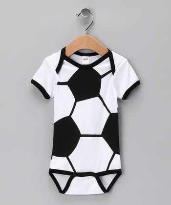Black & White Soccer Ball Bodysuit - Infant