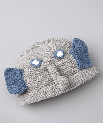 Gray Elvis the Elephant Beanie